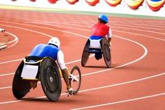 Chemin de présidence de roue pour les personnes handicapées photos stock