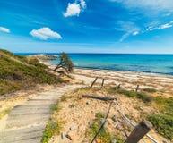 Chemin de promenade en rivage de Scoglio di Peppino Photo libre de droits