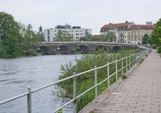 Chemin de promenade par la rivière d'Atran Photographie stock