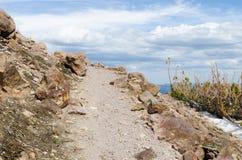 Chemin de randonneurs de la traînée de crête de Lassen images stock