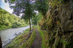 Chemin de rivière de zava de ¡ de SÃ Photo stock