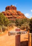 Chemin de roche de Bell dans Sedona Arizona images stock