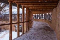 Chemin de ronde nella scena di inverno Fotografia Stock