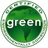 CHEMIN de sceau certifié par vert Photo stock