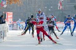 Chemin de ski transnational photographie stock libre de droits