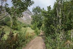 Chemin de terre à Valle del Lago Images stock