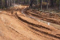 Chemin de terre avec la boue Photos libres de droits