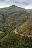 Chemin de terre, Chin State, Myanmar Image libre de droits
