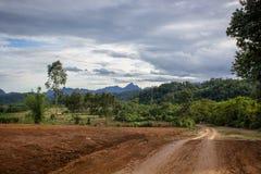 Chemin de terre dans la campagne Photos libres de droits