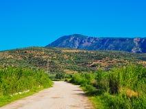 Chemin de terre dans le paysage rural, Grèce images libres de droits