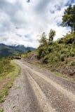 Chemin de terre en Chin State, Myanmar Image stock