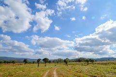 Chemin de terre en parc de nation de Thung Salaeng Luang Image libre de droits