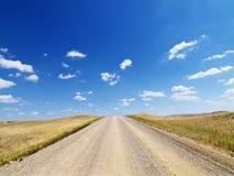Chemin de terre rural par la prairie Photos libres de droits