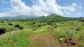 Chemin de terre vers des montagnes Photo libre de droits