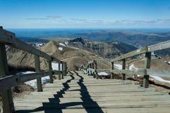 Chemin de traînée de volcans de montagnes Images libres de droits