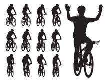 Chemin de vélo illustration de vecteur