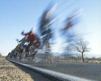 Chemin de vélo dans le désert Image stock