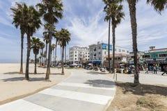 Chemin de vélo de plage de Venise Photo libre de droits