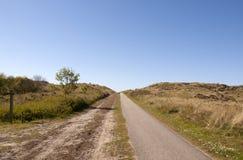 Chemin de vélo, Terschelling Images stock