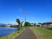 Chemin de vélo de Pearl Harbor Photographie stock libre de droits