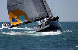Chemin de yachts à Malaga, Espagne Images stock