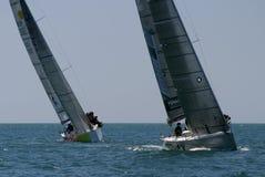 Chemin de yachts à Malaga, Espagne Images libres de droits