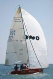 Chemin de yachts à Malaga, Espagne Photo libre de droits