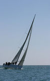 Chemin de yachts à Malaga, Espagne Photographie stock libre de droits