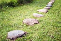 Chemin des pavés ronds Image stock