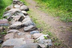 Chemin des pavés ronds Photos libres de droits