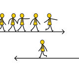 Chemin différent illustration libre de droits