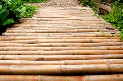 Chemin en bambou Image libre de droits