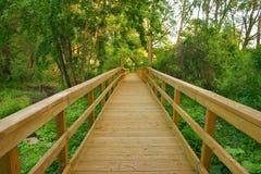 Chemin en bois photos stock