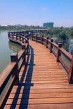 Chemin en bois sur l'eau Photo libre de droits