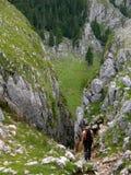 Chemin en montagnes Images libres de droits