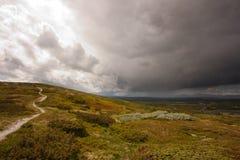 Chemin en nature rocailleuse Photo stock