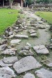 Chemin en pierre dans la ruine maya dans Cozumel, Mexique image stock
