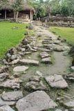 Chemin en pierre dans la ruine maya dans Cozumel, Mexique photographie stock libre de droits