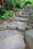 Chemin en pierre dans le jardin Photo libre de droits