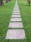 Chemin en pierre de jardin Photos stock