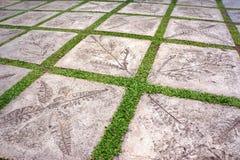 Chemin en pierre de jardin images stock