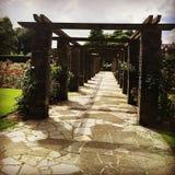 Chemin en pierre de jardin Photo libre de droits