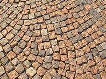 Chemin en pierre de pavé Image libre de droits