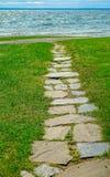 Chemin en pierre vers le lac Supérieur photos libres de droits
