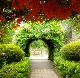 Chemin et fleurs de jardin Image libre de droits