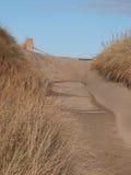 Chemin et sable Photos stock