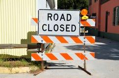 Chemin fermé de clip de signe de route Photos libres de droits