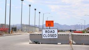 Chemin fermé de clip de signe de route Image libre de droits