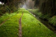 Chemin forestier étroit Images libres de droits