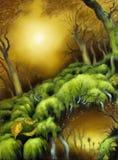 Chemin forestier d'automne Photographie stock libre de droits